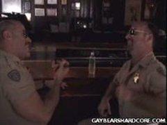 Gay Bear Cops Hit It Off