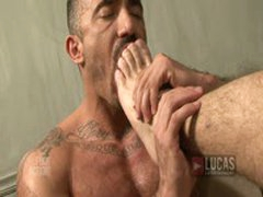 Macho Dudes Licking FEET!