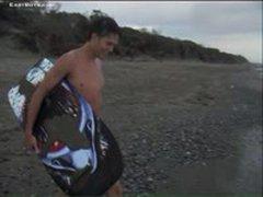 Raul - Beach - Cumshot