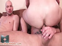 Colin Steele, Kasey Anthony And Dyke Bloom Homosexual 3some 11 By Barebackholes