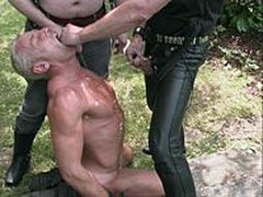 Naked And Chained Slave Gets Punished