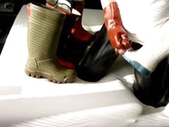 Ballstretcher, Gloves And Rubberbootplay