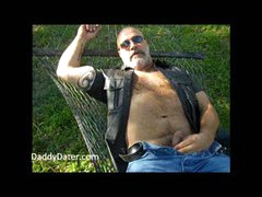 Hairy  Stroking Outdoors