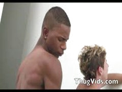 Twink Takes Ebony Cock