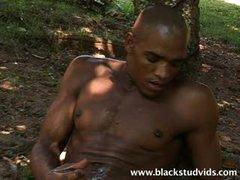Black Stud Cumshot