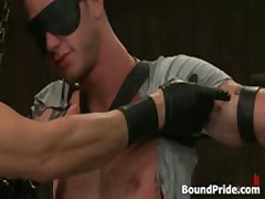 Tattooed Beast Blindfolded And Gets Rimjob 1 By BoundPride