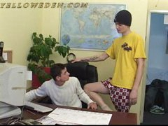 Two Teens - He Blowjobs His