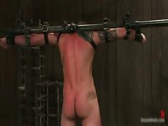 Tattooed Hunk Blindfolded And Gets Rimmed 4 By BoundPride