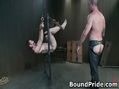 Nick Noman Plastic Wrapped And Getting His Rigid Schlong Jerked 11 By BoundPride