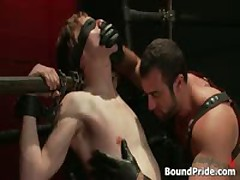 Noah Blindfolded And Tortured Homosexual Bondage 3 By BoundPride