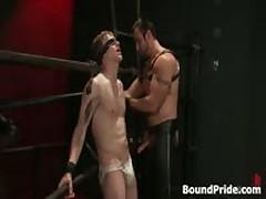 Noah Blindfolded And Tortured Homosexual Bondage 3 By BoundPride