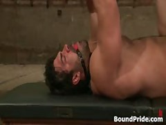 Dude Gets Anus In Gay BDSM Clip By BoundPride