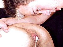 Threesome Gay Sex Action Video And Cum Felching