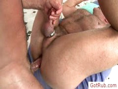 Guy With Cockring Assfucked By Gotrub