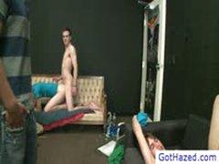 Guy Gets Anal Hazed On Sofa By Gothazed