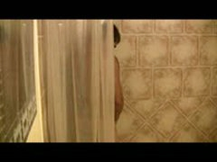 See How This Papi Strokes His Big Uncut Cock In The Shower And Shoot S A Massive Load.