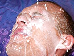 Gay Stud Drawning His Lovers Face With Big Cream