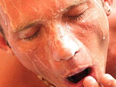 Get His Face Covered With Huge Cream