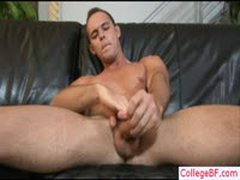 Amazing College Stud Busting His Nuts On Sofa By Collegebf