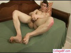Amazing College Guy Fingering His Asshole By Collegebf