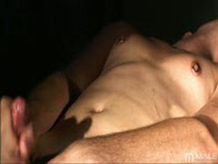 Playing With His Cock And Cumming