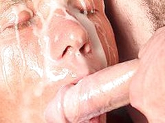 Cum Hungry Gay Man Gets His Face Messed Up With Huge Cumload