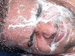 Heavy Loads Of Semen Dropped On Gay Dudes Face