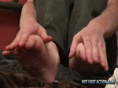 Bi Boy Jacob Playing With Feet