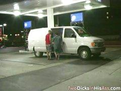 Double Dicking In The Van