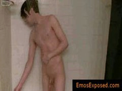 Gay Emo Masturbating Under Shower By Emosexposed