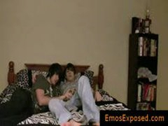 Two Cute Young Emos Having Gay Sex On Bed By Emosexposed