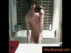 Hot Gay Emo Wanking His Uncut Dick By EmosExposed