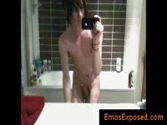 Hot Gay Emo Wanking His Uncut Dick By EmosExposed