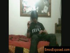 Black Haired And Smoking Emo Getting His Hands In His Pants By EmosExposed
