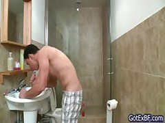 Sexy Ripped Buddy Pulling Under Shower Three By Gotexbf