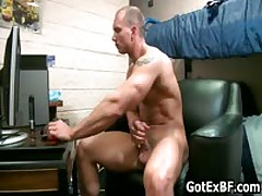 Muscular Hetero Bro Wanking His Mighty Weiner 5 By GotExBF