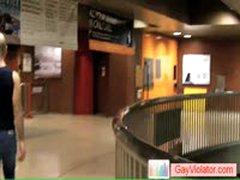 Dude Gets Fucked In Metro By Gayviolator