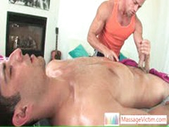 Man Gets Oiled Penis Up The Mouth By Massagevictim