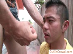 Asian Guy Assfucked Outdoors By Outincrowd