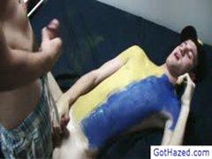 Guy Gets Gay Hazed By Gothazed