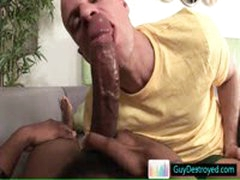 Bald Dude Sucking Big Fat Black Cock By Guydestroyed