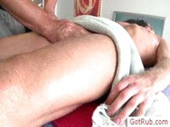 Blond Getting His Nuts Oiled For Massage By Gotrub
