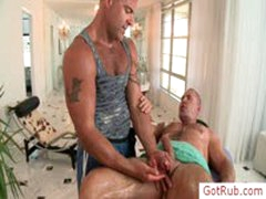 Tatooed Dude Getting Amazing Handjob By Gotrub