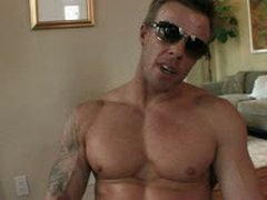 Rough Muscle Guy Jerking Huge Dick