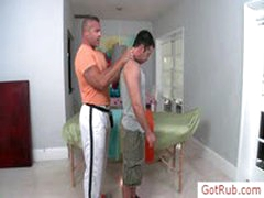 Hairy Chested Guy Getting Examined Before Massage By Gotrub