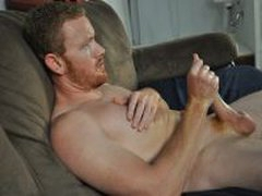Straight Red-Head Jock Jerk