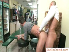 Hunky Guy Getting Ass Fucked In Restaurant By Outincrowd