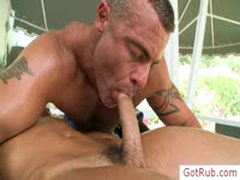 Tatooed Hunk Getting Cock Oiled And Massaged By Gotrub