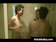 Real Asian Dudes Having Crazy Under Shower By Bukakkeboy
