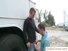 Hunk Gets His Fine Hard Cock Sucked In Public By Outincrowd